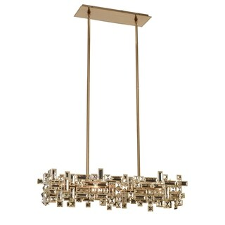 Allegri Vermeer Chrome-fiinished Metal/Glass 6-light Island Chandelier