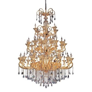 Allegri Legrenzi 48 Light Chandelier W/Swarovski Elements Crystal W/Antique Silver Leaf