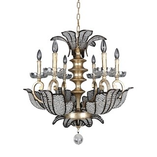 Allegri Tiepolo Silver Leaf and Sienna Bronze 6-Light Chandelier