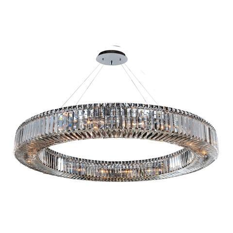 Allegri 11706010FR001 18 Light Pendant Rondelle Chrome - One Size