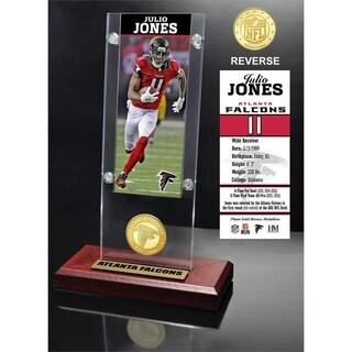 Julio Jones Ticket & Bronze Coin Acrylic Desk Top - Multi-color