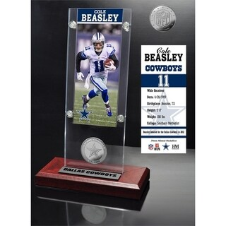Cole Beasley Ticket & Minted Coin Acrylic Desk Top - Multi-color