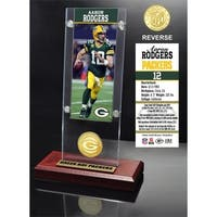 Aaron Rodgers Ticket & Bronze Coin Acrylic Desk Top - Multi-color