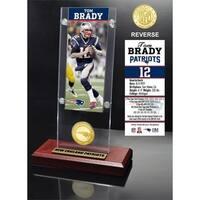 Tom Brady Ticket & Bronze Coin Acrylic Desk Top - Multi-color