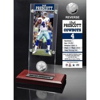 Dak Prescott Ticket & Bronze Coin Acrylic Desk Top - Multi-color