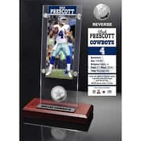 Dak Prescott Ticket & Bronze Coin Acrylic Desk Top - Multi-color