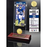 Odell Beckham Jr. Ticket & Bronze Coin Acrylic Desk Top - Multi-color