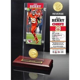 Eric Berry Ticket & Bronze Coin Acrylic Desk Top - Multi-color