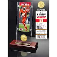 Eric Berry Ticket & Bronze Coin Acrylic Desk Top - Multi-color