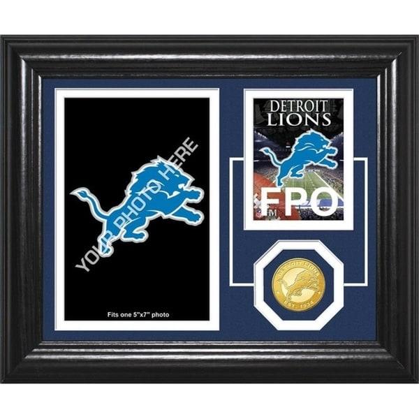 """Detroit Lions """"Fan Memories"""" Bronze Coin Desktop Photo Mint - Multi-color"""