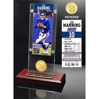 Eli Manning Ticket & Bronze Coin Acrylic Desk Top - Multi-color