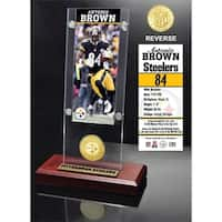 Antonio Brown Ticket & Bronze Coin Acrylic Desk Top - Multi-color