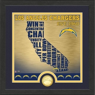 "Los Angeles Chargers ""State"" Bronze Coin Photo Mint - Multi-color"