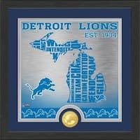 """Detroit Lions """"State"""" Bronze Coin Photo Mint - Multi-color"""