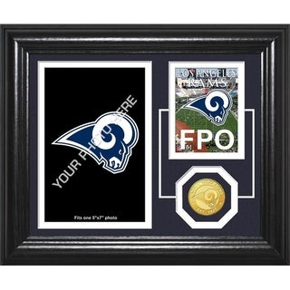 "Los Angeles Rams ""Fan Memories"" Bronze Coin Desktop Photo Mint - Multi-color"