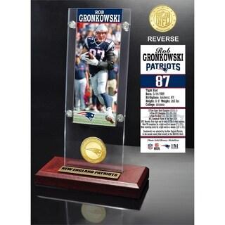 Rob Gronkowski Ticket & Bronze Coin Acrylic Desk Top - Multi-color
