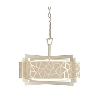 Kalco Miramar Metal 26-inch Convertible Pendant Semi-flush Light