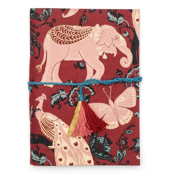 Handmade Fauna Journal - Red Garden (India)