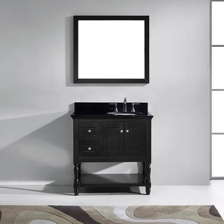 Julianna 36-inch Single Vanity Black Granite Top Mirror Faucet (More options available)