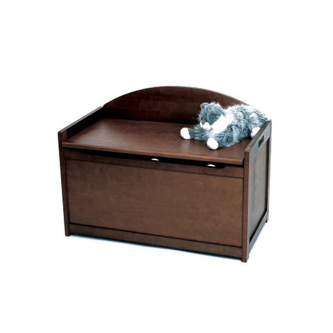 Lipper Child's Toy Chest, Walnut Finish