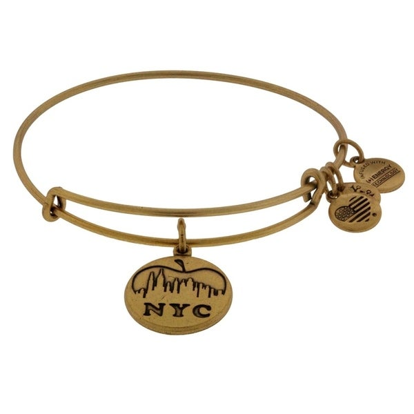 ffe1742de Shop Alex and Ani NYC Skyline Charm Bangle Bracelet - A12EB112RG - Free  Shipping On Orders Over $45 - Overstock - 17141969