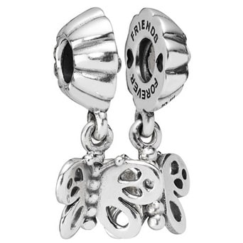 4091ab672 Shop Pandora Best Friends Forever Butterfly Two-Part Charm - 790531 - Free  Shipping Today - Overstock - 17141974