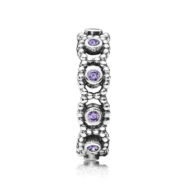 125023147 Shop PANDORA Her Majesty Purple CZ Romance Ring Size 8.5 - 190881ACZ-58 -  Free Shipping Today - Overstock - 17141978