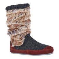 Women's Acorn Slouch Boot Charcoal Fur