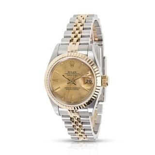 Rolex Datejust 67193 Ladies Watch in 18K Yellow Gold & Stainless Steel