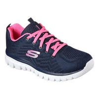 Women's Skechers Graceful Get Connected Trainer Navy/Hot Pink