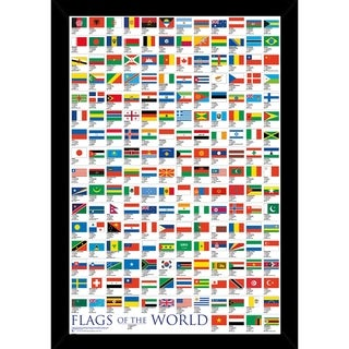 Flags Of The World Poster With Choice of Frame (24x36)