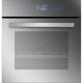 """Empava 24"""" Black Tempered Glass Electric Single Wall Oven KQC65C-17"""