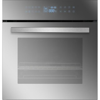 "Empava 24"" Black Tempered Glass Electric Single Wall Oven KQC65C-17"