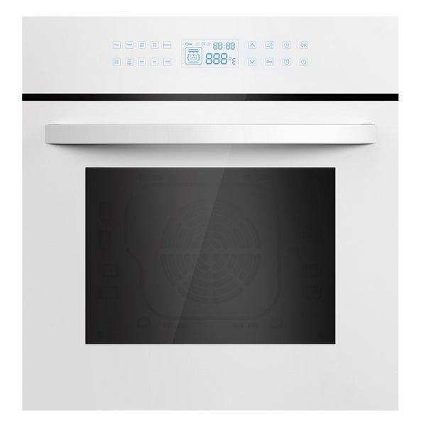 "Empava 24"" White Tempered Glass Electric Single Wall Oven KQC65C-12"
