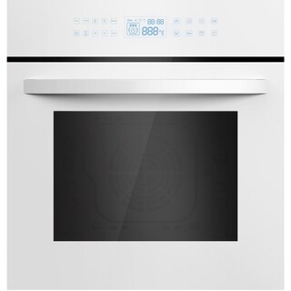 """Empava 24"""" White Tempered Glass Electric Single Wall Oven KQC65C-12"""