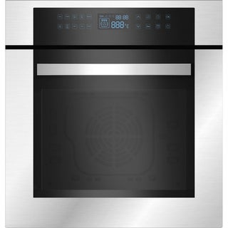 "Empava 24"" Stainless Steel Electric Single Wall Oven KQC65C-02"