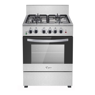 "Empava 24"" Stainless Steel Slide-in Freestanding Gas Range"