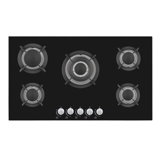 "Empava 34"" Tempered Glass 5 Sabaf Burners Stove Gas Cooktop HQ5L90A"