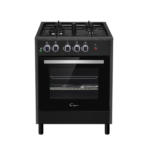 Shop Empava 24 Black Slide In Freestanding 4 Burner Gas Range Free Shipping Today Overstock Com 17143609