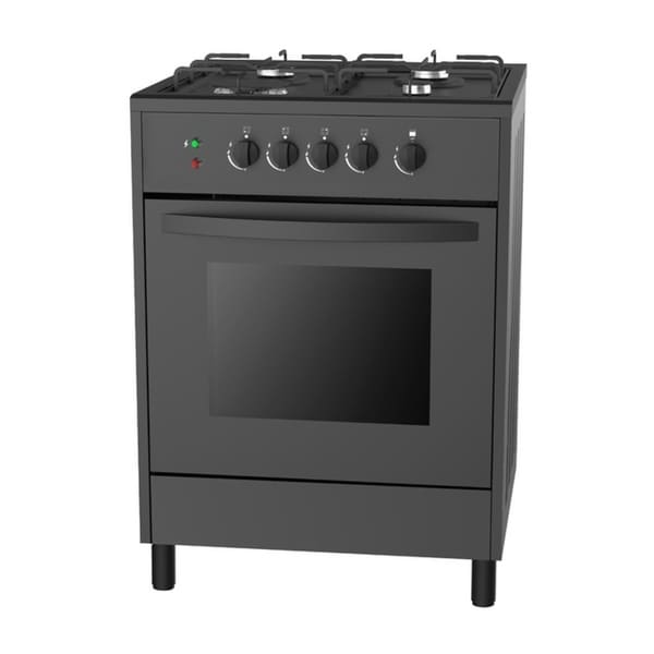 Empava 24 Black Slide In Freestanding 4 Burner Gas Range