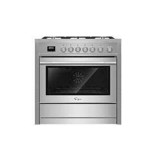 "Empava 24"" Black Slide-in Freestanding 4 Burner Gas Range"