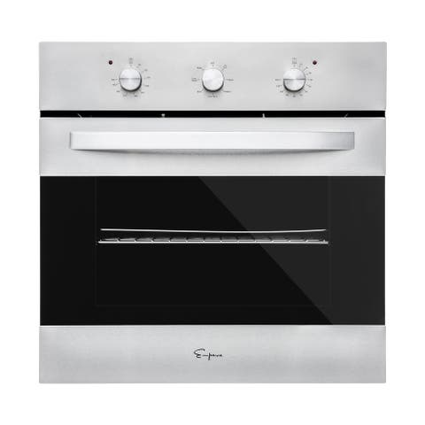 Empava Electric Convection Single Wall Oven with Knobs Stainless Steel
