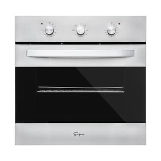 "Empava 24"" Black Tempered Glass Electric Single Wall Oven KQC65B-21"