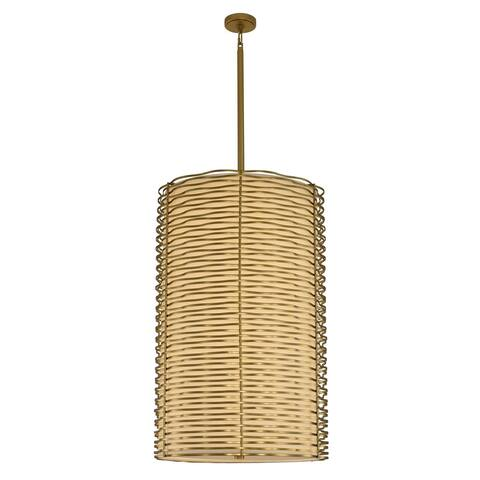 Kalco 312753VBR LED Foyer Chandelier Paloma Vintage Brass - One Size