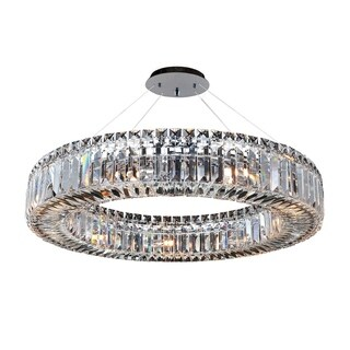 Allegri Rondelle Metal 26-inch 9-light Round Pendant