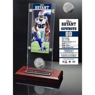 Dez Bryant Ticket & Minted Coin Acrylic Desk Top - Multi-color