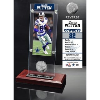 Jason Witten Ticket & Minted Coin Acrylic Desk Top - Multi-color