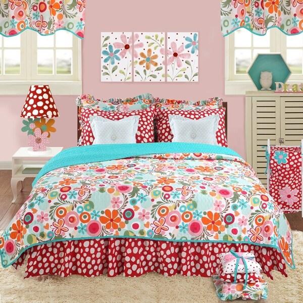 Cotton Tale Lizzie Floral Reversible Twin Quilt Bedding Set