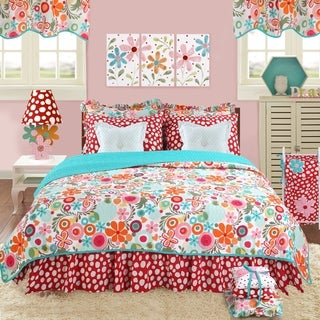 Cotton Tale Lizzie Floral Reversible Twin Quilt Bedding Set