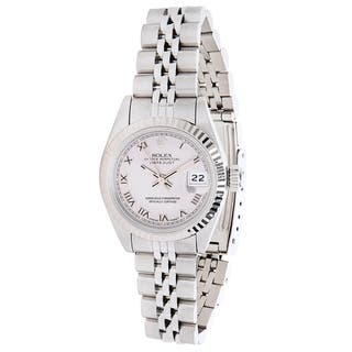 Rolex Datejust 69174 Women's Watch in 14K White Gold & Stainless Steel|https://ak1.ostkcdn.com/images/products/17144544/P23409759.jpg?impolicy=medium
